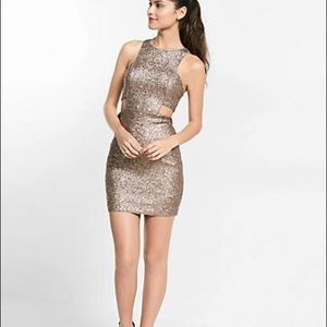 Express Sequin Cutout Dress NWT